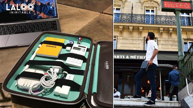 クラウドファンディングプロジェクト:パリの起業家デザイナーが開発多機能ガジェット/タブレットクラッチバッグ<LALOO>