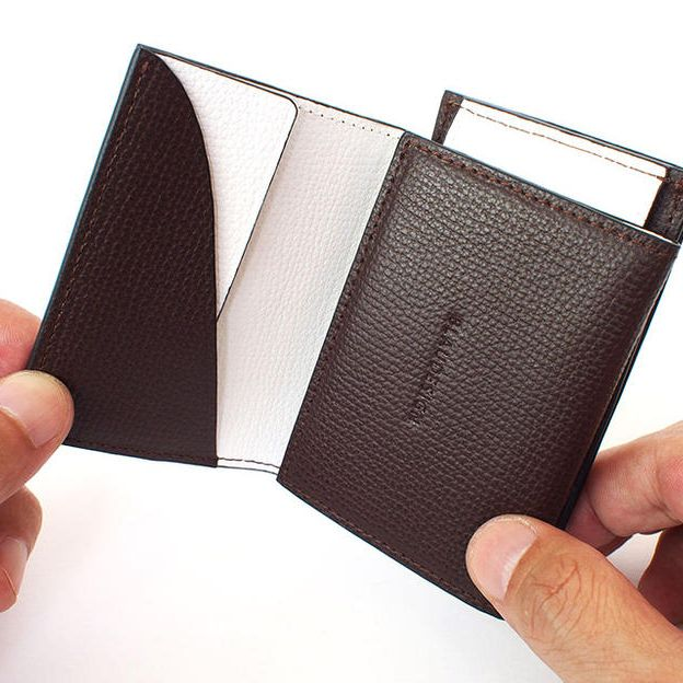 BLAUDESIGN Wallet Two in One ブラウン&ホワイト