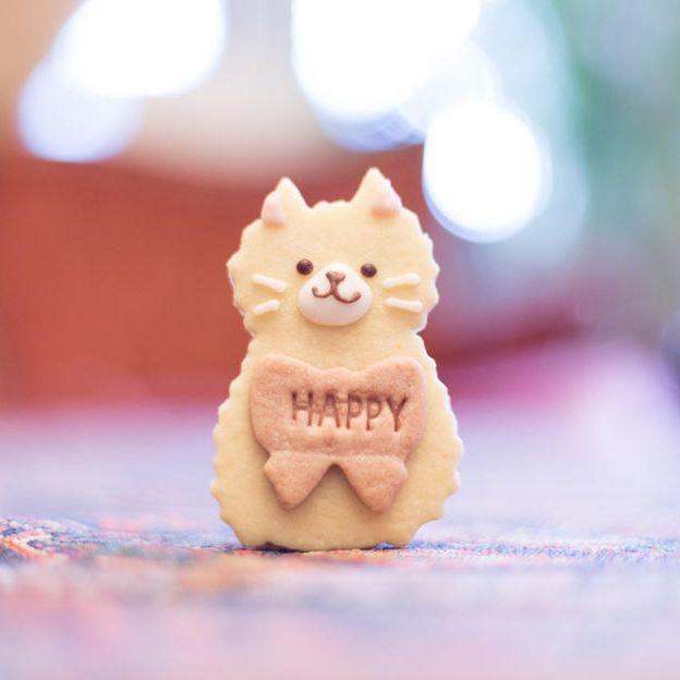 【クッキーで応援コース】卵不使用クッキー3枚セット・猫ちゃんシール付きお礼のお手紙