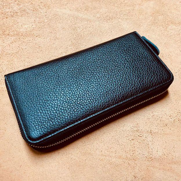 【20%OFF】特許4FUSION 日本製イタリアレザー長財布 ブラック