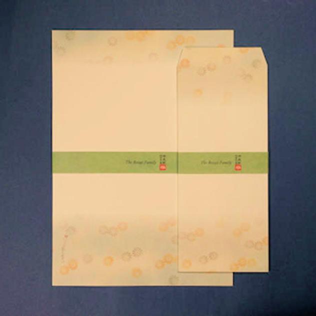 【追加2】芳名録にお名前記載とオリジナルレターセット