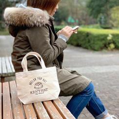 【Creema SPRINGS限定】メロンパンハット刺繍ランチトートバッグ