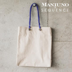 MANIUNO×SEQUENCE 縦型トートバッグ(オフホワイト)