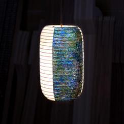 【CF限定デザイン】海風景・引箔の会社提灯ペンダントライト・Lサイズ(直径15センチ程度、高さ47センチ程度)