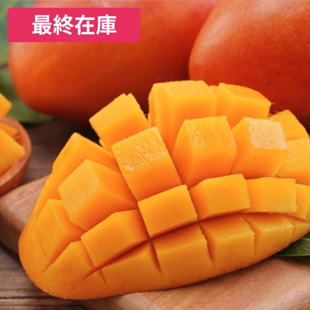 【最終在庫】台湾産アップルマンゴーセット(1箱、計2.5kg、平均4個~8個)